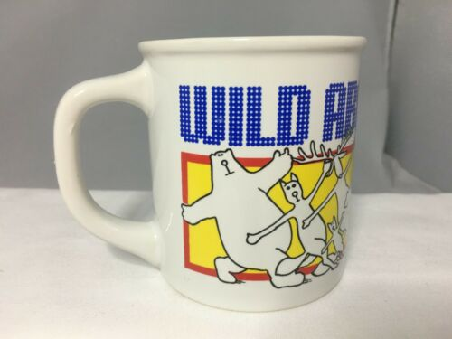"""WILD ABOUT ANCHORAGE"" COFFEE MUG CONVENTION VISITORS BUREAU VINTAGE JAPAN COOL"