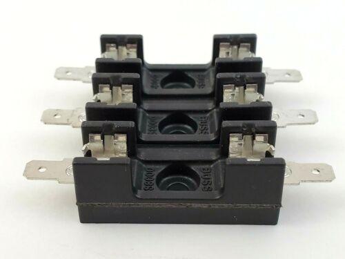 """Bussmann S-8201-3 Quick Connect 3-pole Fuse Block 20a 300v 1/4"""" X 1-1/4"""" Fuse"""