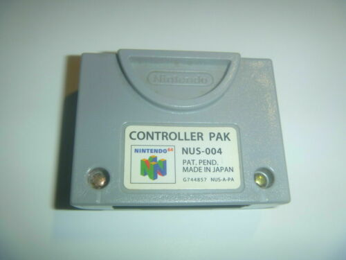 Official Nintendo 64 N64 Gray Video Game Memory Card Controller Pak Pack NUS-004