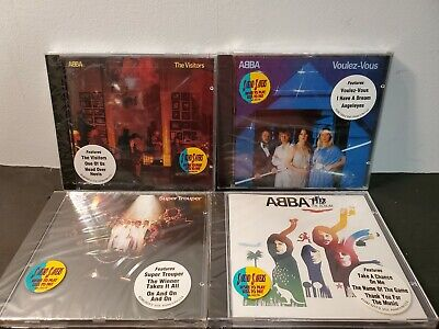 "ABBA ""THE VISITORS"" the Album, super trouper BRAND NEW 4 cd lot  SEALED! Polydor"