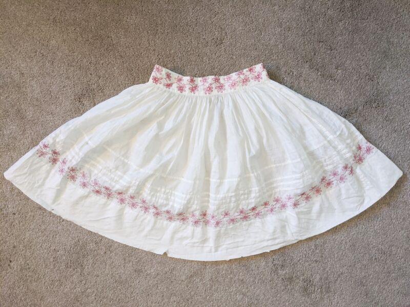 Antique European Mid 19th Century Victorian Handmade Folk Skirt