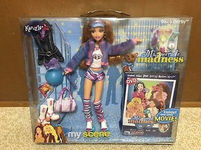 Barbie My Scene Masquerade Madness Kenzie Doll Rooted Eyelashes Disco Derby Rare