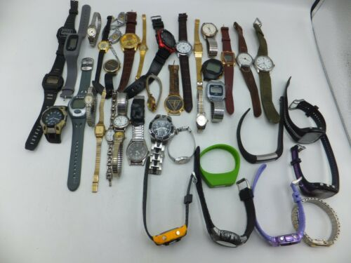Lot Of 30+ Carriage, Elgin, Seiko, Sports Mens / Womens Watches - Sold As-Is