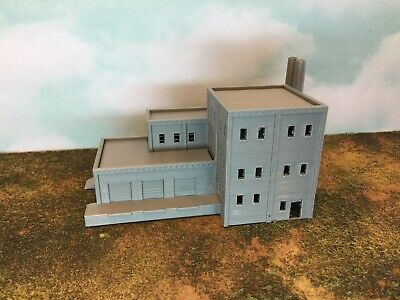 Multi Level FACTORY with LOADING DOCK and DUAL STACKS - N Scale 1:160 - 3D Model