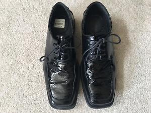 """Men's Dexter Comfort, Vesper style 8.5"""" black dress shoes"""