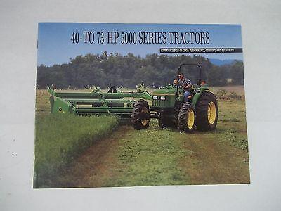 John Deere 5000 Series Tractor Brochure Models 5200 5400 5400n 5500 5500n
