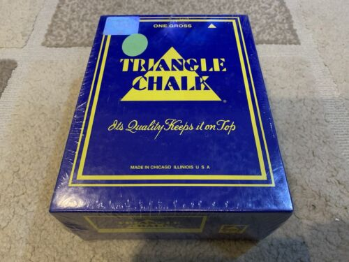 Triangle Chalk 144 pieces light green Snooker Pool New in Box