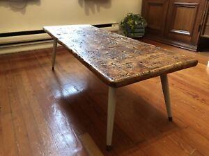 Table de salon relookée