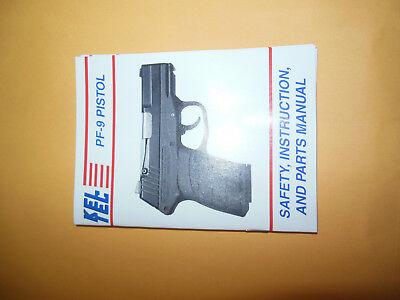 Keltec PF-9 Pistol Instruction and Maintenance Manual PF9
