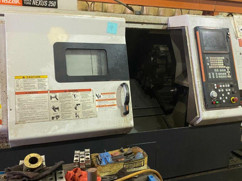 Mazak Quick Turn 250 HP With High Pressure Coolant Big Turrent Chip Conveyor