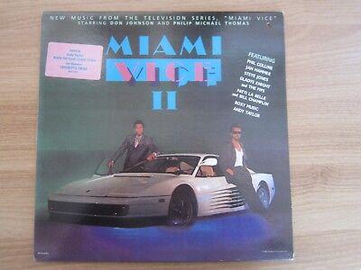 MIAMI VICE II OST, RARE 9 TRACKS 1987 KOREA ORIG LP INSERT SOUNDTRACK