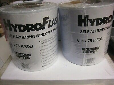2 Yes 2 Benjamin Obdyke Hydroflash 6 X 75 - 2 Rolls House Wrap Flashing Tape
