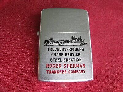 Zippo Lighter 1953 Advertising the Roger Sherman Transfer Company
