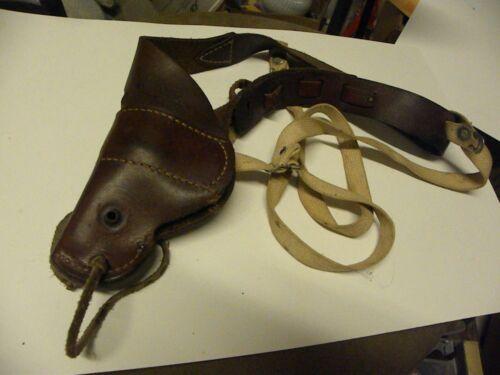 POLICE Leather Duty Brown SHOULDER HOLSTER Vintage-BUCHEMAER #520