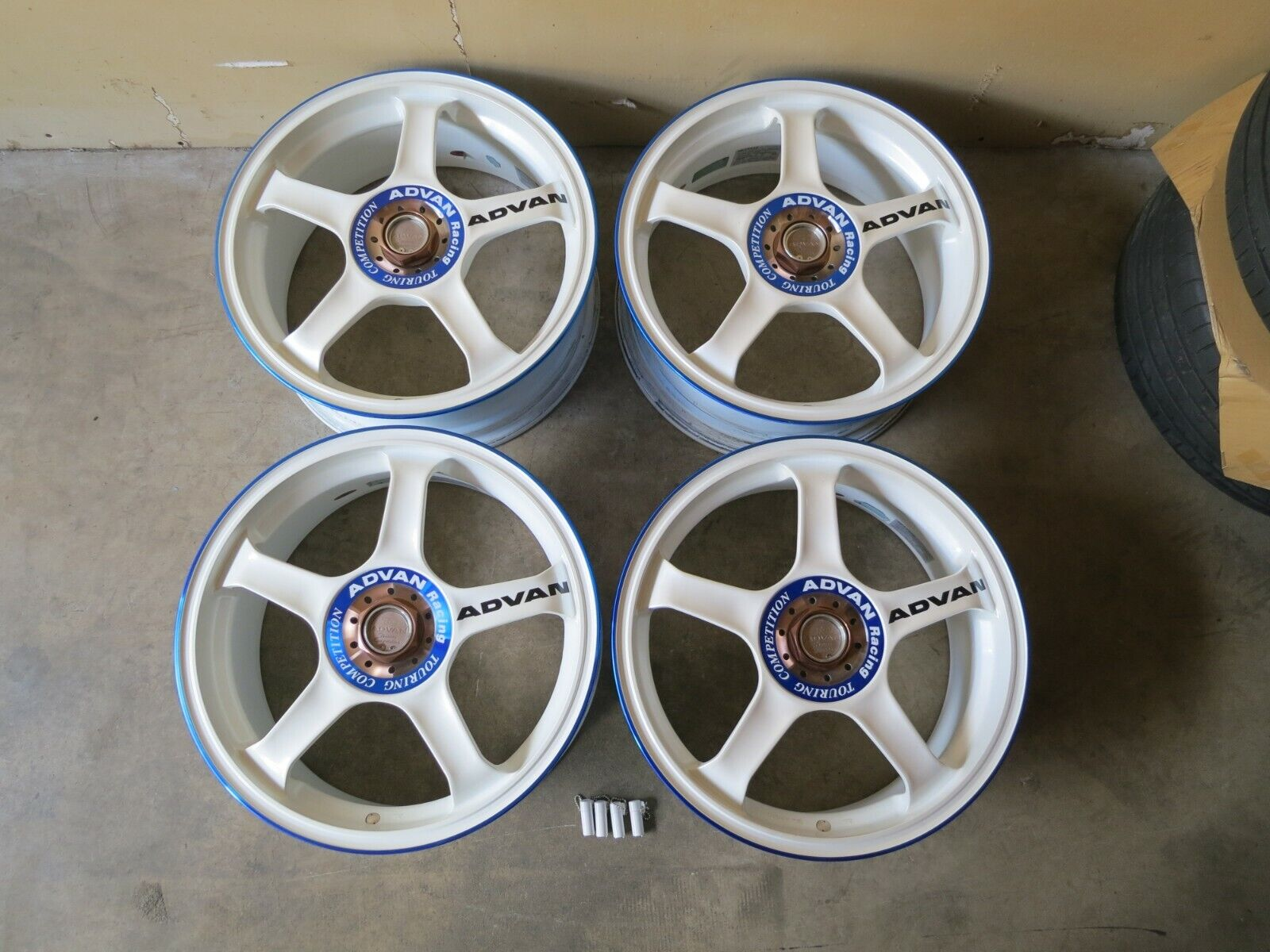 ADVAN RACING TC WHITE 17x7 +48 5x114 FA5 FD2 DC5 RSX CIVIC EP3 SI CRZ ZF1 RARE