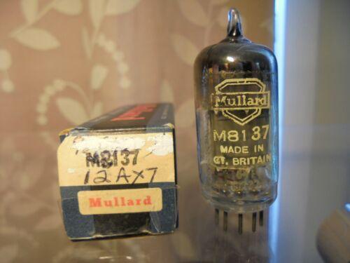 MULLARD M8137 12AX7 CV4004 ONE OLD STOCK BRITISH VINTAGE BOXED TESTED VALVE TUBE