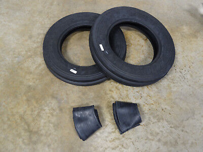 Two New 5.00-15 Carlisle Tri-rib 3 Rib Front Tractor Tires With Tubes