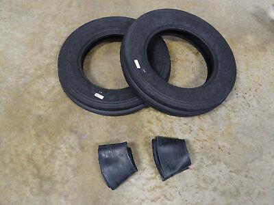 Two New 5.00-15 Carlisle Tri-rib 3 Rib Front Tractor Tires Usa Made W Tubes