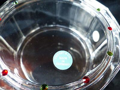 Tiffany & Co Glas Dose 12 eckig mit swarovski steinen Rarität Neu mit Etikette