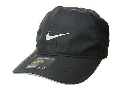 02df4cb13f155b Nike Featherlight Cap Run Dri-Fit Adjustable in Black AR1998-010 New w/ Tags