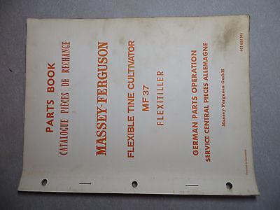 Massey Ferguson 37 Flexible Tine Cultivator Parts Book