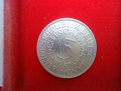 5 DM Silber J. 387 1956 D in sehr schön