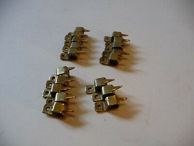 Vintage 18 Stair Rod Brackets/Clips Brass Square Type