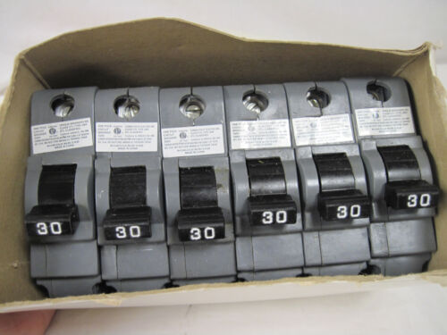 6 American FPE Circuit Breakers Stab-lok 30 Amp 1 Pole 120/240 Volts Canada