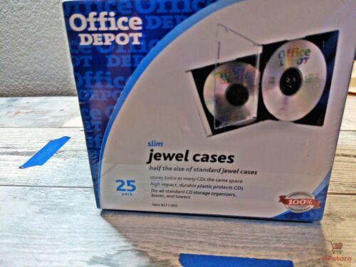 CD Slim Jewel Cases Office Depot 25 Pack