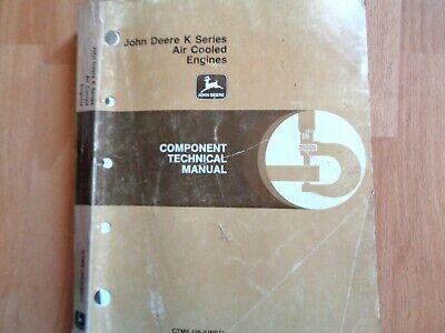 John Deere K Series Air Cooled Engines Factory Repair Manual Ctm5 Oem