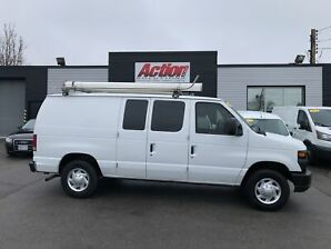 2012 Ford E-150 shelving ladder rack and divider!