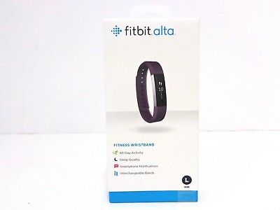 Fitbit Alta Watch Everyday Fitness Activity + Sleep Tracker Large, Plum FB406PML