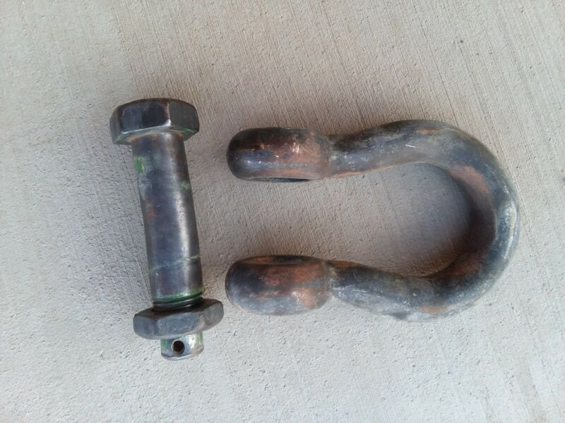 """Holland Large Shackle Clevis 1 5/8"""" Green Pin for Crane Free Shipping 30T"""