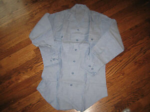 chambray-shirt-usn-issue-new-old-stock-100-cotton-SMALL-32-sleeve