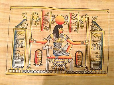 Ancient Egyptian Heh the God of Eternity Handmade Papyrus Art Painting Egypt ()
