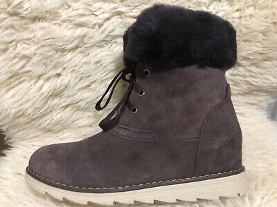 Clearance - Ever UGG - Women's lace-up Boots -Vivianna - chocolate - US 7