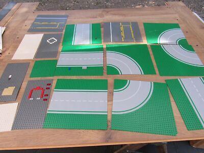 16 Piece Lot Lego Base Plates Green Road Street 10 10x10 4 10x5 2 5x5