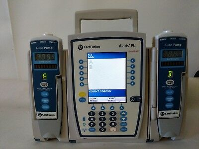 Carefusion Alaris Pc 8015 Control Unit  2 Alaris Iv 8100 Pumps