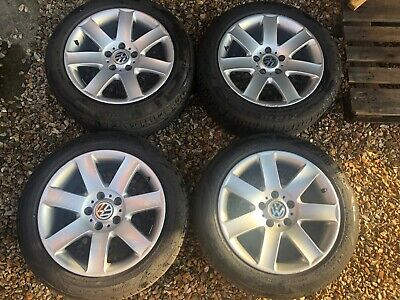 """Genuine BMW 17"""" Style 44 alloy wheels with great tyres + fit T5, Vivaro etc."""