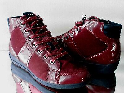 Damen GEOX respira HighTop Sneaker D Myria velvet C7005 bordeaux EUR39 US9 260mm
