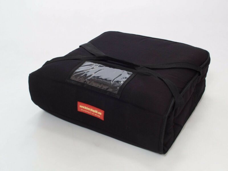 "Pizza Delivery Bag Thick Insulated(Holds upto Two 16"" or Two 18"" Pizzas) Black"
