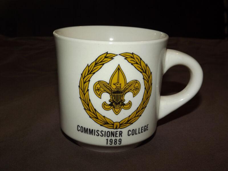 VINTAGE BSA BOY SCOUTS  COFFEE MUG 1989 COMMISSIONER COLLEGE