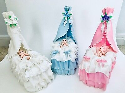 Cradle and Baby.Cake Topper., used for sale  Shipping to India