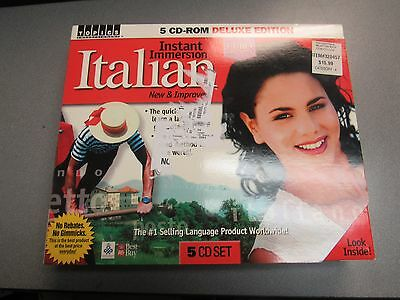 Topics Instant Immersion Italian Language 5 Cd Set For Pc Deluxe Edition