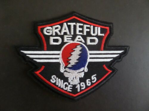 """GRATEFUL DEAD SINCE 1965"""" MUSIC LEGENDS  Embroidered 3 x 4 Iron On  Patch"""