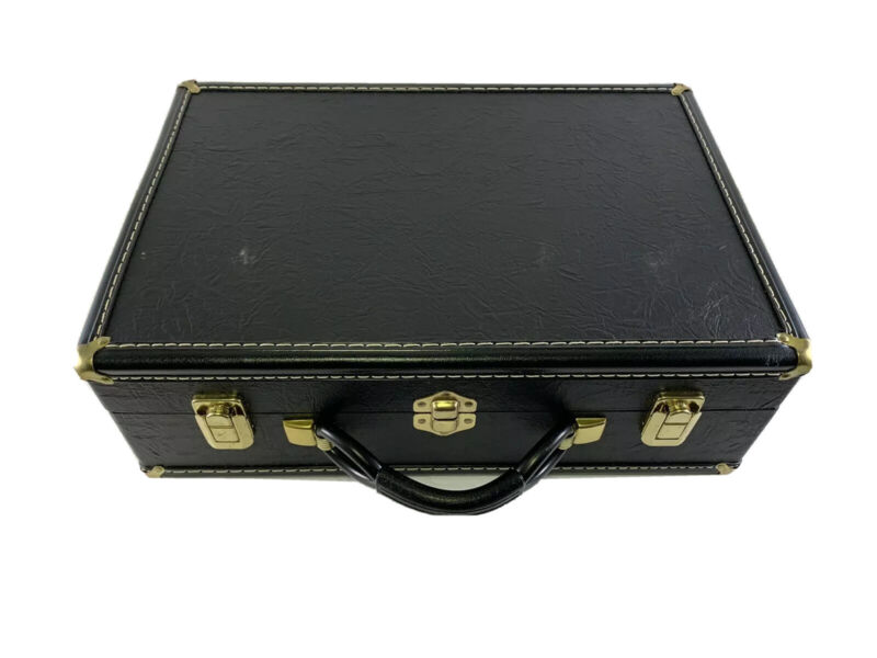 Extremely Sturdy Vintage Style Hardwood Leather Cornet Case #2