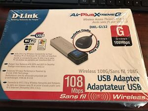 """D-Link Air Plus Xtreme G USB Adapter """"Brand New"""""""