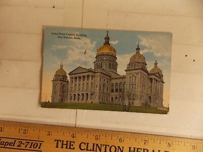 Iowa State Capitol Building -  Des Moines, Iowa IA POSTCARD IOWA STATE CAPITOL BUILDING