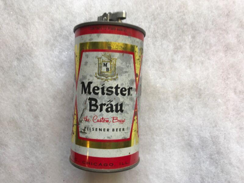 Meister Brau Beer Vintage Can Cigarette Lighter, 1967