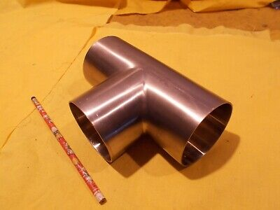 3 Od X 316 Stainless Steel Tee Stock Round Tube Exhaust Pipe .065 Wall